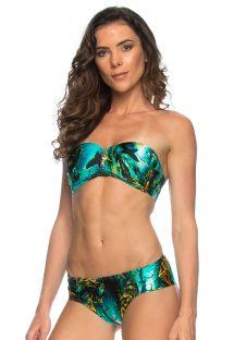 Bandeau bikini med tryck och dragkjed - SHARKS ZIPER