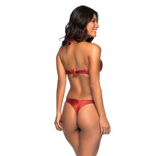 Red push-up balconette bikini with underwire - SUPER UP EBANO