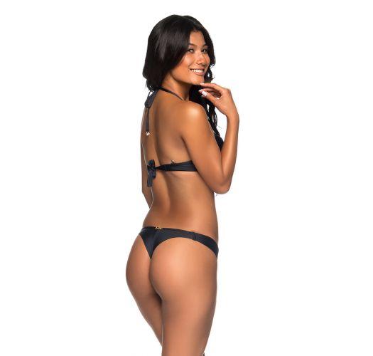 Black push-up balconette bikini with underwire - SUPER UP PRETO