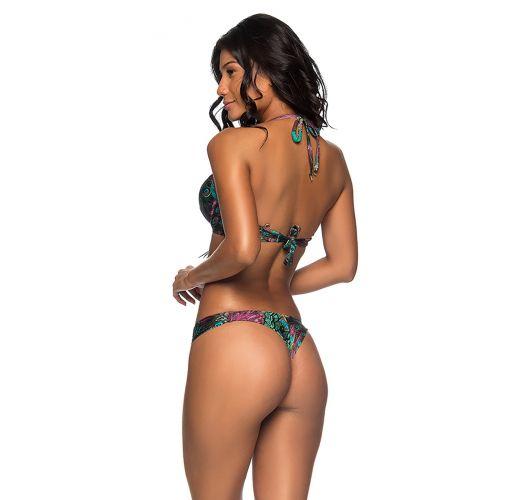 Push-up balconette bikini in peacock print - SUPER UP VOLERY