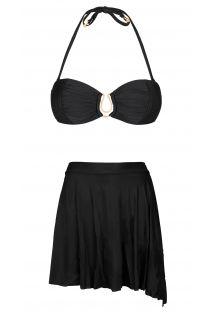 Bikini bandeau ze spódniczką, którą można związać - TRACIE