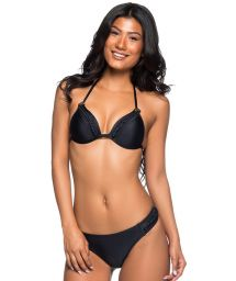 Schwarzer Bikini mit Flechtdetails - TRESSE PRETO