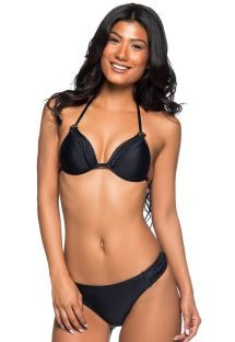 Brasiliansk bikini svart med flettede detaljer - TRESSE PRETO