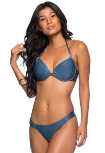 Dark blue underwired balconette bikini - TURB ELEGANCE