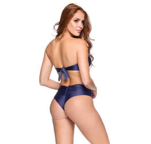 Brasiliansk bikini og bandeau glidelås natteblå - ZIPPER NEW YORK