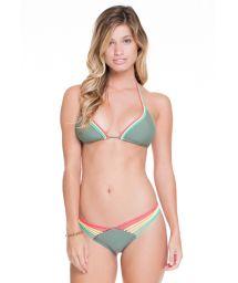 Strappy kakiscrunch bikini, colourfulties - AGATA