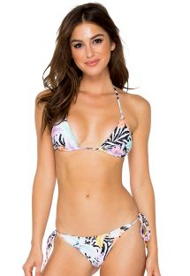 Bikini scrunch reversible colorido/cebra - BUENA VISTA CRYSTALLIZED