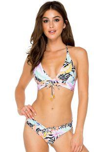 Reversible colorful/zebra halter bikini - BUENA VISTA DRAWSTRING