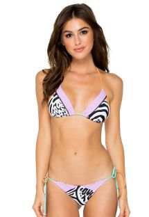 Bikini scrunch triangular cebra y colores - CAYO SETIA