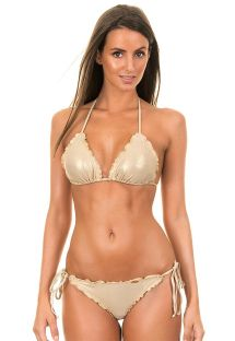 Shiny gold Brazilian swimsuit - COSITA GOLD