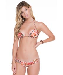 Multi-coloured reversible bikini with animal print - CRAVO ROSA