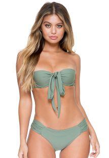 Farklı kullanım özellikli haki bandeau bikini - FAMA MULTIWAY ARMED