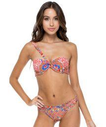Multiposition bandeau bikini in a colourful print - FAMA MULTIWAY MANDINGA