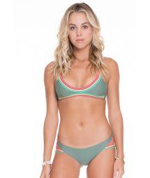 Strappy kaki string bikini,bra top - JADE