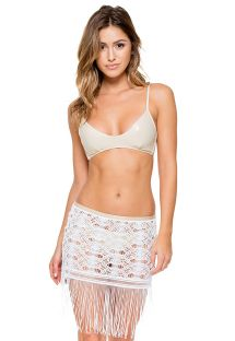 Gold bra bikini top and fringed skirt - LINDA