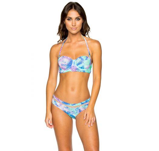 Underwired balconette bikini - mermaid print - MAMASITA SIRENAS