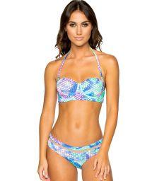 Balconnette bikini med sjöjungfru- tryck - MAMASITA SIRENAS