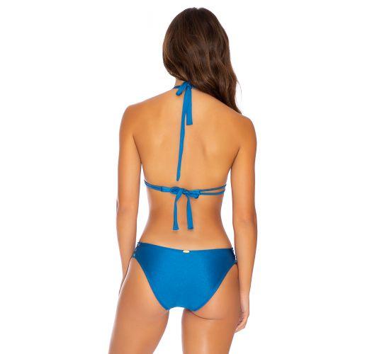Blue laced halter bikini - MAMBO FULL BLUE