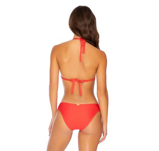 Red laced halter bikini - MAMBO FULL RED