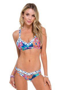 Bikini con top sportivo, tie-bye e stampa - MESS TIE DYE