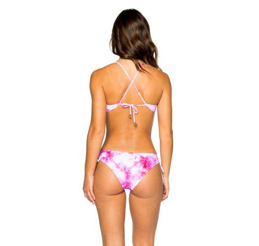 Reversible pink tie-dye bra bikini - MODERATE BAMBOLEO