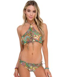 Original reversible strappy crop top bikini - PAISLEY