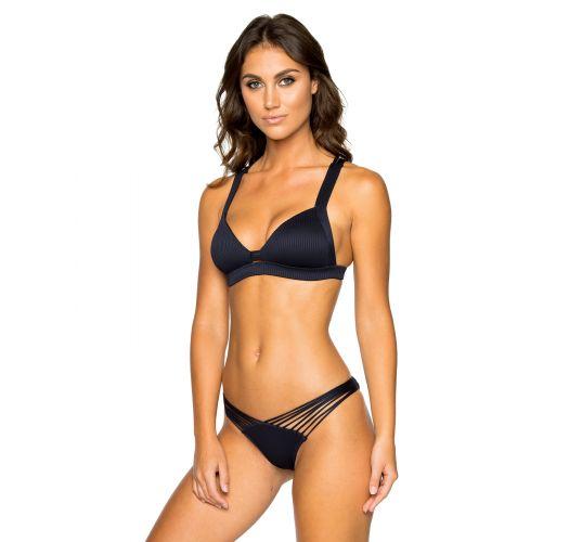 Schwarzer Push-Up-Bikini mit Kreuzträgern - PUSH-UP MAR COSTA DEL SOL