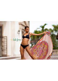 Black push-up bikini with crossed back - PUSH-UP MAR COSTA DEL SOL