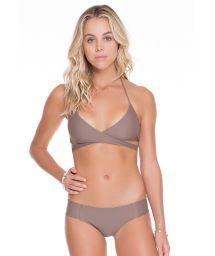 Reversible taupe/gold bikini - REVERSIBLE SANDY TOES