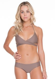 Omkeerbare taupe/gouden bikini - REVERSIBLE SANDY TOES