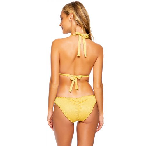 RUCHED LULI DIVA SUNSET GOLD