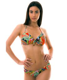 BBS X LULI FAMA - colorful padded push-up bikini - RUMBA BANDEAU