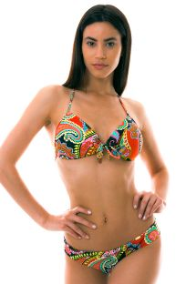 Push-up Bikini Top, bedruckt, bunt - RUMBA BANDEAU