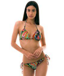 BBS X LULI FAMA - colorful Brazilian bikini with rhinestones - RUMBA CRYSTALLIZED