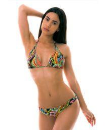 BBS X LULI FAMA - reversible colorful triangle bikini - RUMBA REVERSIBLE ZIG ZAG