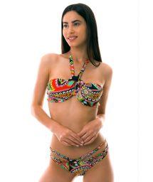 BBS X LULI FAMA - Underwired bandeau bikini with scrunch bottom - RUMBA STRAPPY