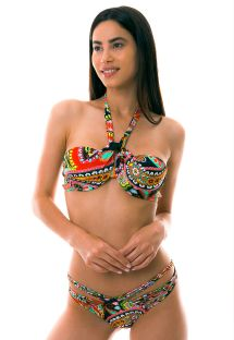 BBS X LULI FAMA - Underwired bandeau bikini with scrunch bottom - RUMBA STRAPPY