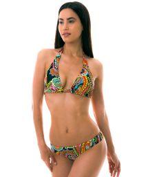 BBS X LULI FAMA - Bikini triangle foulard imprimé multicolore - RUMBA TRI HALTER