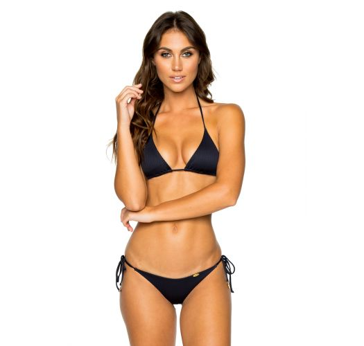 Triangle black Brazilian bikini with scrunch bottom - SEAMLESS MAR COSTA DEL SOL