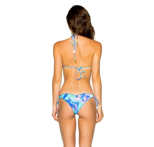 Brazilian scrunch bikini - mermaid print - SEAMLESS SIRENAS