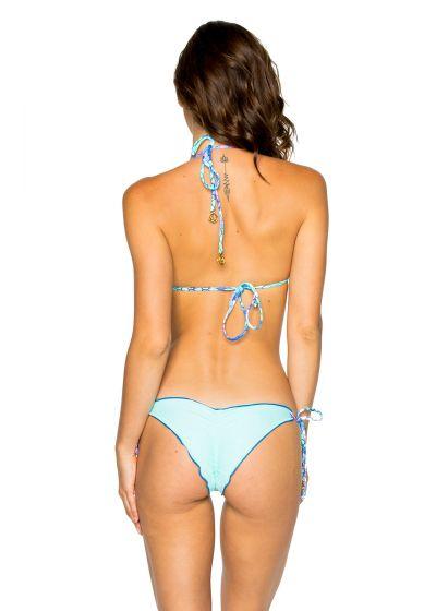 Rynkad bikini med sjöjungfru- tryck - SEAMLESS SIRENAS