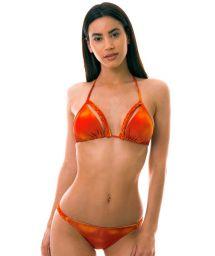 BBS X LULI FAMA - Orange tie-dye bikini - SOL Y ARENA BRAIDED