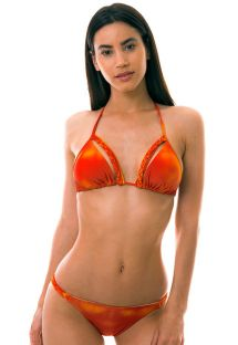 Orange trekants- bikini övredel - SOL Y ARENA BRAIDED
