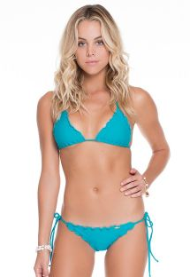 Blue Brazilian scrunch swimsuit - WAVEY EXUMA