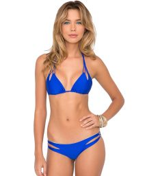Blue Brazilian bikini with interwoven straps - ZIGZAG ELECTRIC BLUE