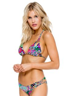 Bikini top triangulo reversible,multitiras - ZIGZAG REVERSIBLE VIVA