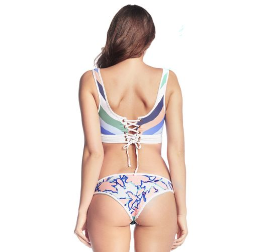 Front - back reversible crop top bikini - CIELO BRANCO