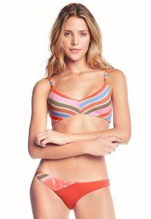 Bikini a righe colorate con bretelle regolabili - CREME DE PAPAYA