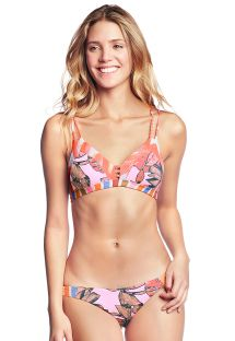 Orange & pink mixed print bra bikini - CUMBUCO PRAIA