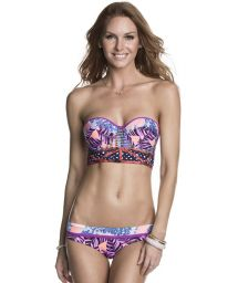 Bustier top swimsuit with lace up back - DANCING QUEEN